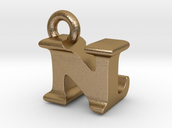 3D Monogram Pendant - NLF1 3d printed