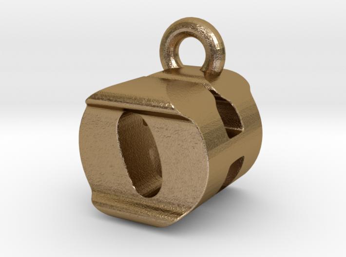 3D Monogram Pendant - OHF1 3d printed