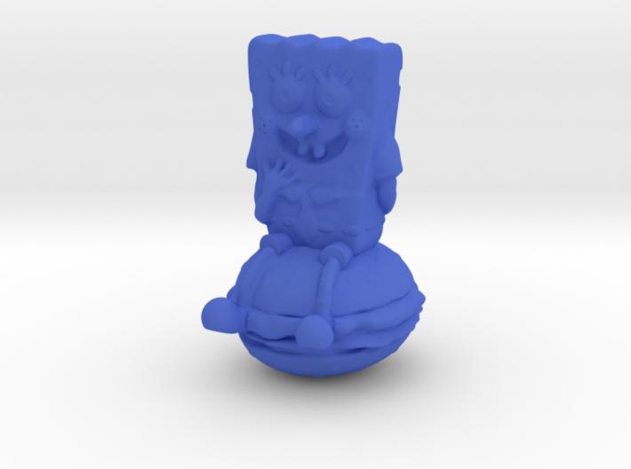 Spongebob on hamburger 3d printed
