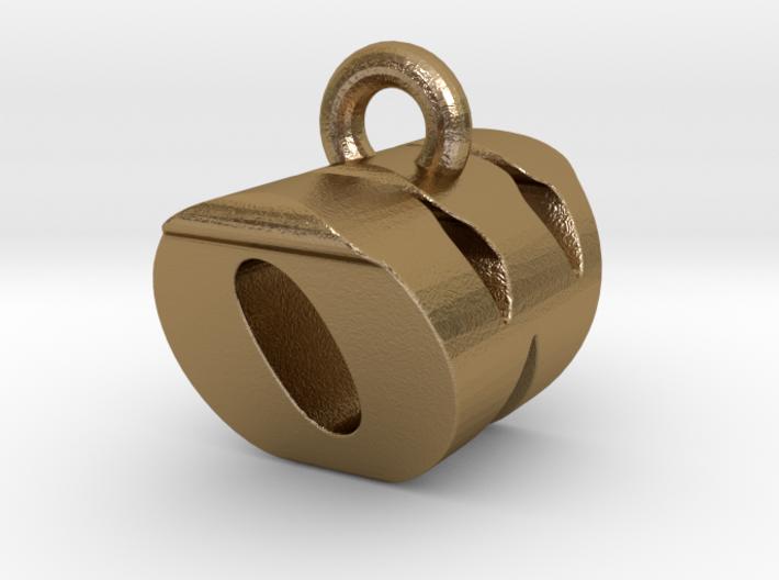 3D Monogram Pendant - OWF1 3d printed