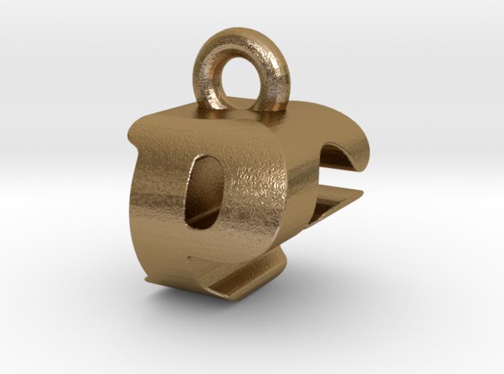 3D Monogram Pendant - PGF1 3d printed