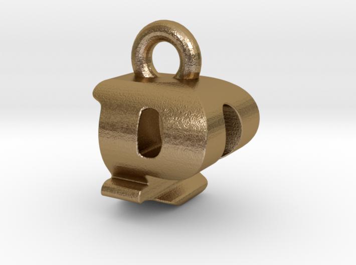 3D Monogram Pendant - PQF1 3d printed