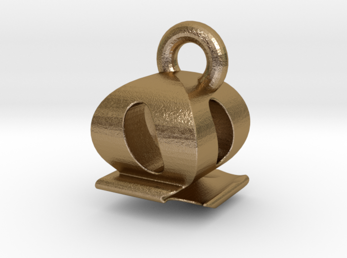 3D Monogram - QQF1 3d printed