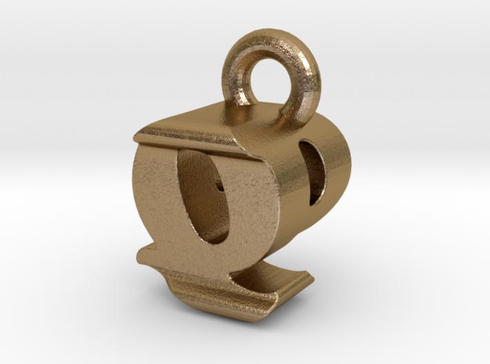 3D Monogram - QPF1 3d printed