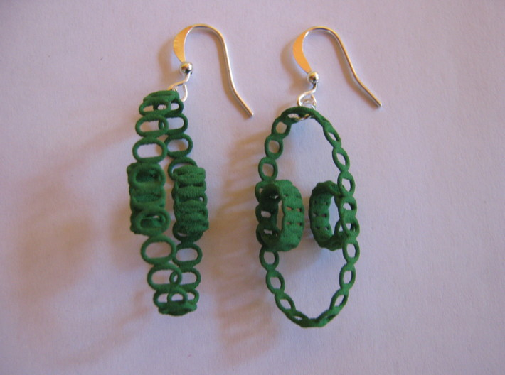 Clelie Chain Earrings 3d printed