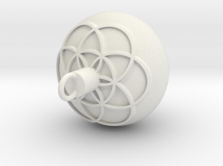 1 Pendulum 11mm - 0.25mm Flower 2mm Cut Emboss 0.5 3d printed