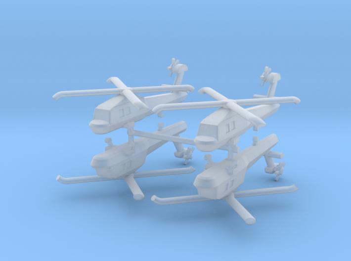 1/700 MH-60 Stealth Blackhawk (x4) 3d printed