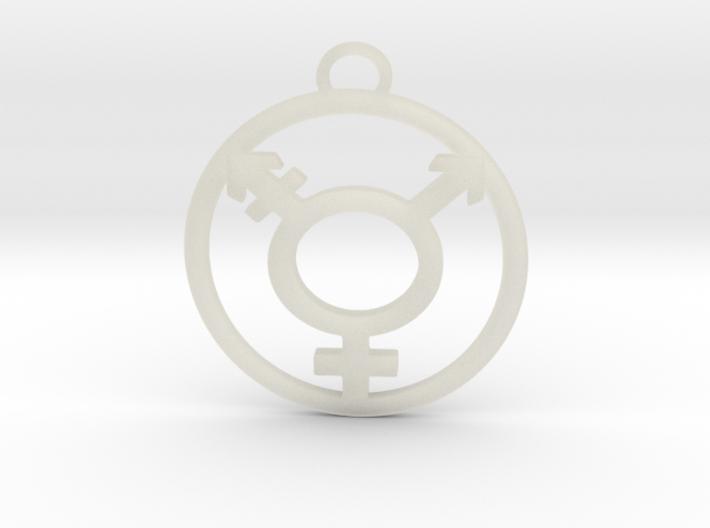 TransGender Pendant-Simple 3d printed