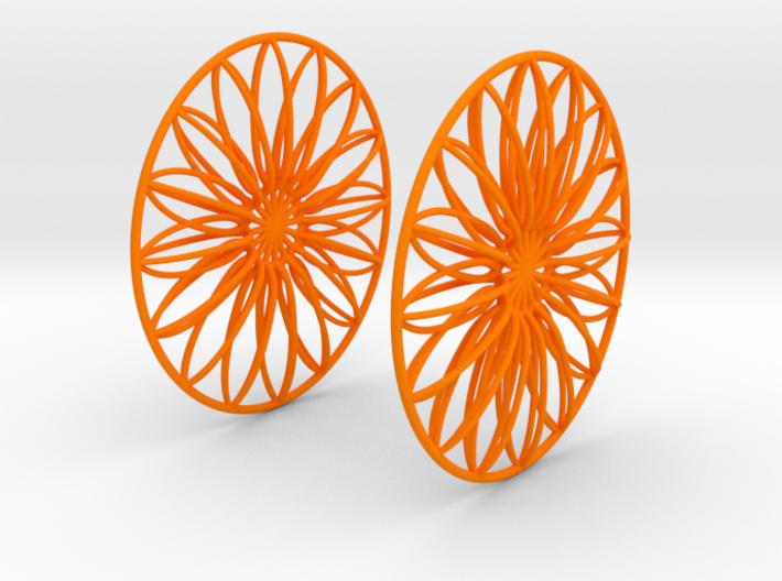 Flowerish 9 Big Hoop Earrings 60mm 3d printed