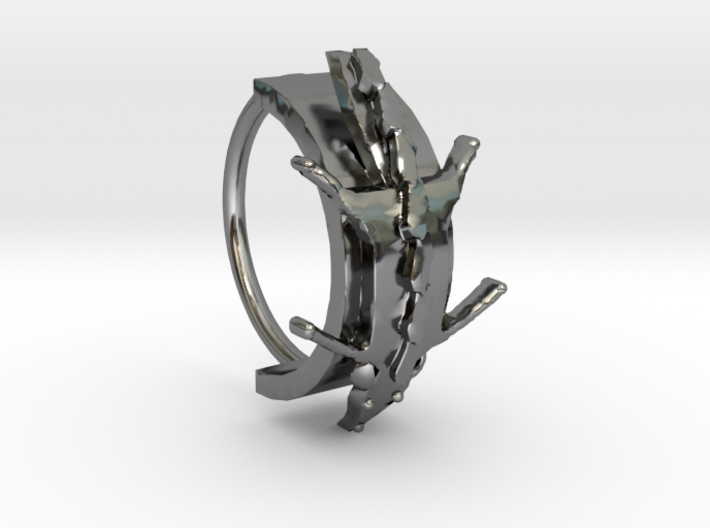 Fox Stole Ring - Sz. 7 3d printed