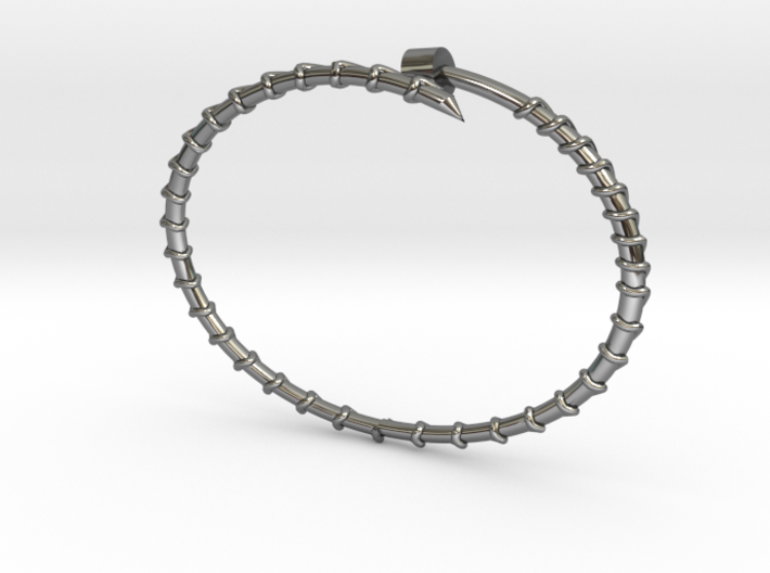 Dainty Screw Bracelet -Large 3d printed