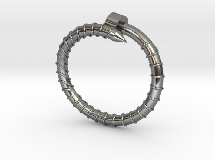 BIG Screw Ring - Sz. 5 3d printed
