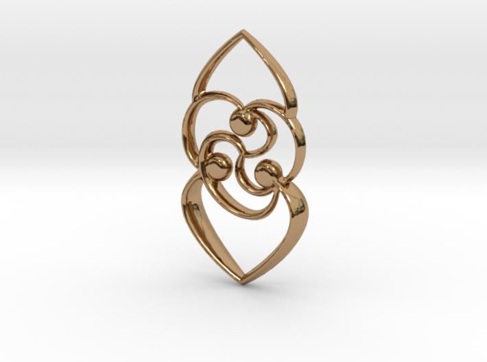 Celtic rose 3d printed