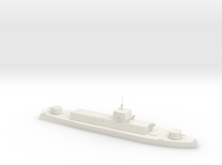 1/350th scale WW2 Hungarian armoured boat 3d printed