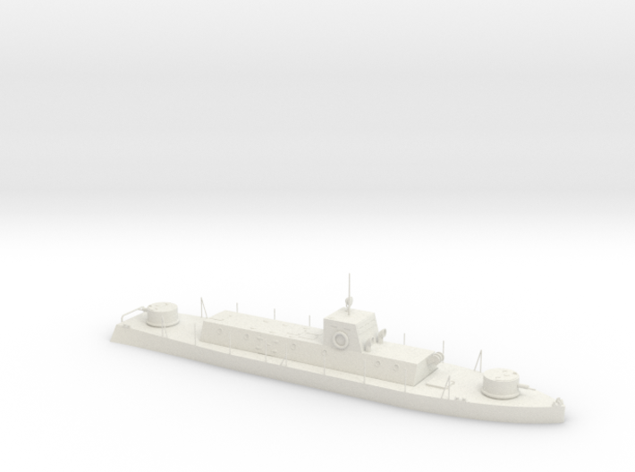 1/56th (28 mm) scale WW2 Hungarian armoured boat 3d printed