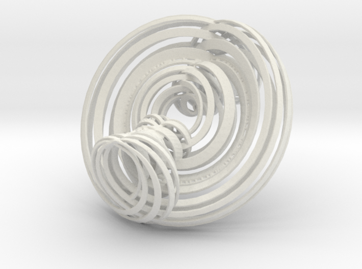 Triple Torus in strips 3d printed