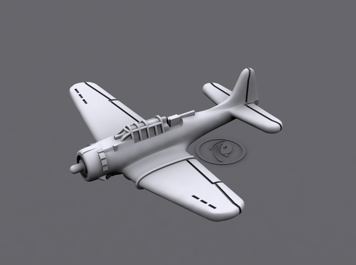 1/900 Douglas SBD Dauntless (x12) 3d printed 3D software render