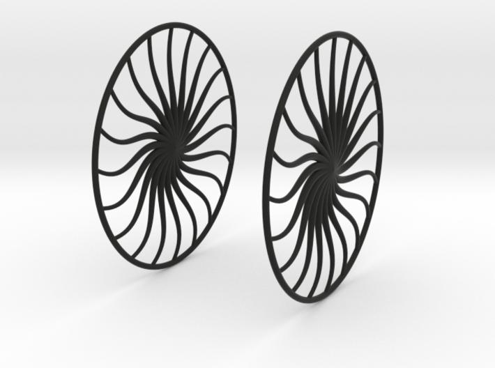 Flowerish 4 Big Hoop Earrings 60mm 3d printed