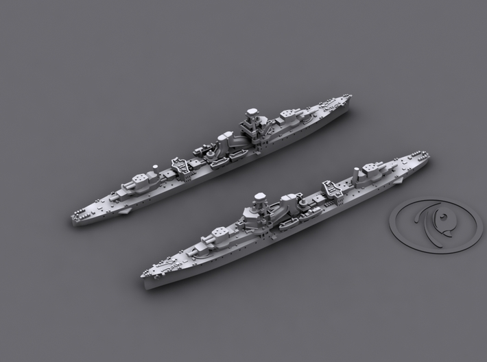 1/1800 IJN CL Yubari[1941] 3d printed 3D software render