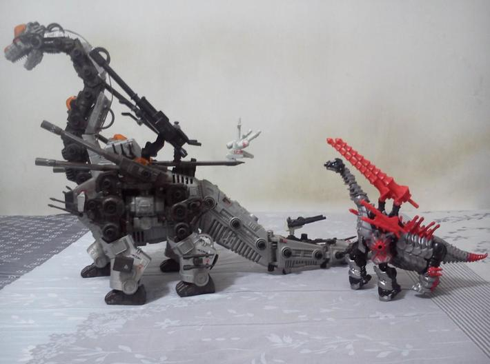 TF4 : AOE Warrior Of Colossus Kit for Voyager Slog 3d printed Double cannon reference to Zoids Ultrasaurus.
