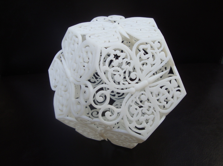 Butterfly Dodecahedron 01 3d printed