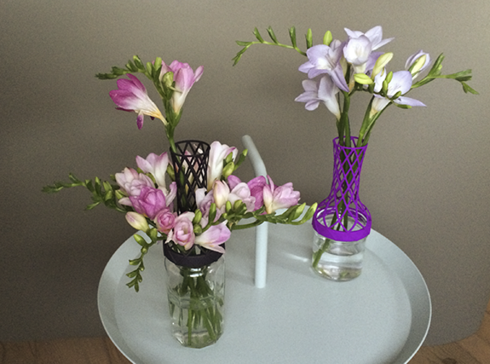 Tower Vase for jar size:63 (4 leads) 3d printed Tower Vase as playful set