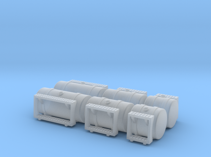 1/64th Scale 'Builders pack' Round Fuel Tank w Ste 3d printed
