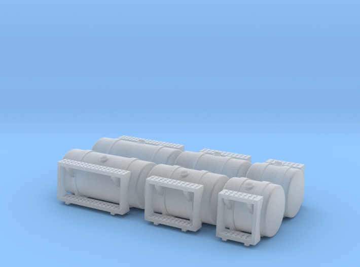 1/87th HO Scale 'Builders pack' Round Fuel Tanks s 3d printed