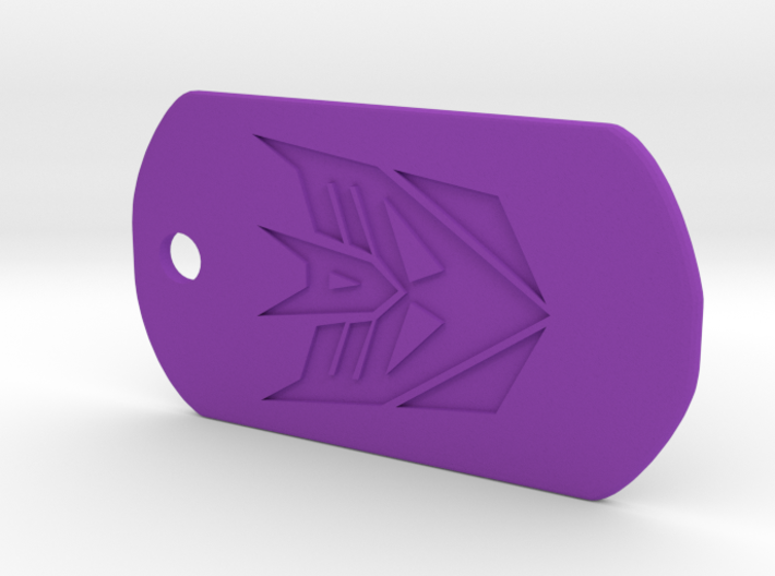 Decepticon Dog Tag 3d printed