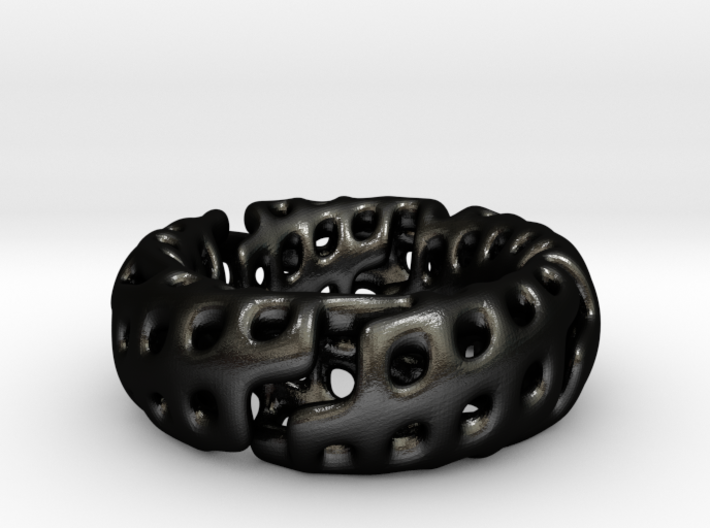 Volcanic Revival Ring 3d printed