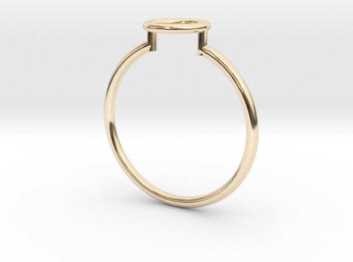 Open Circle Ring Sz. 7 3d printed