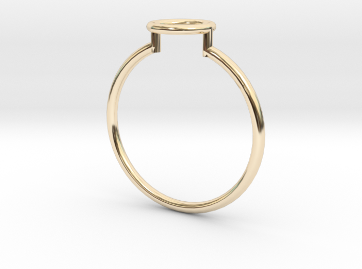 Open Circle Ring Sz. 9 3d printed