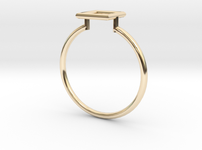 Open Square Ring Sz. 6 3d printed