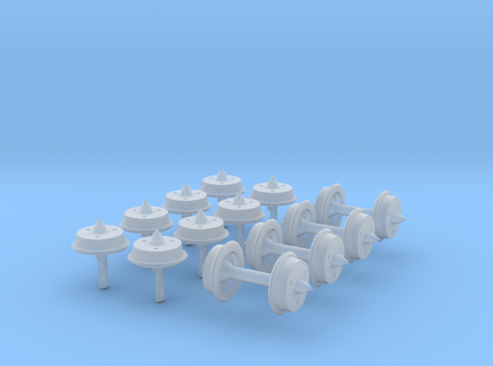 Experimental N-gauge Wheels 3d printed