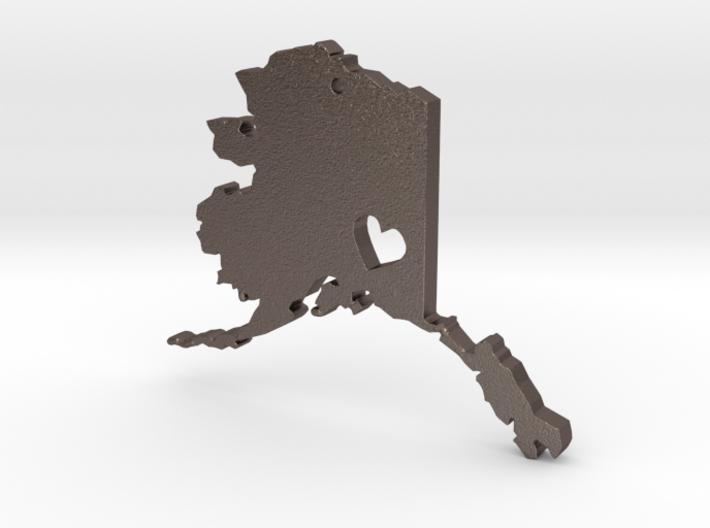 I Love Alaska Pendant 3d printed