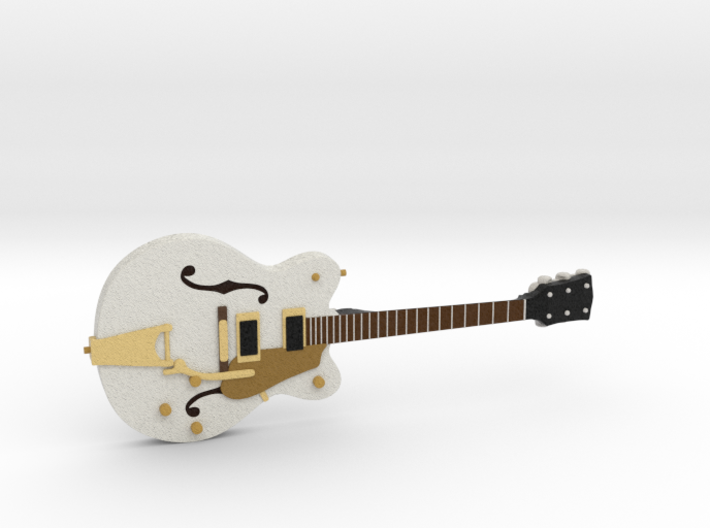 Big Old Style Hollow Body Guitar 1:18 3d printed