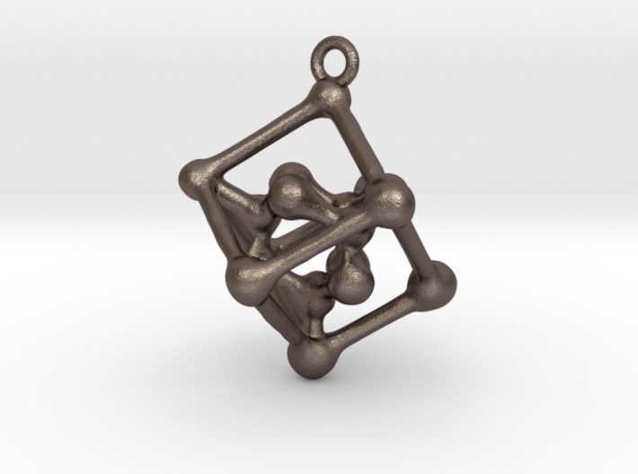 Bone cube pendant 3d printed