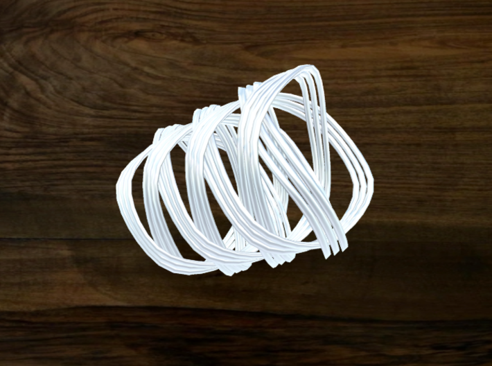 Turk's Head Knot Ring 7 Part X 3 Bight - Size 8.25 3d printed