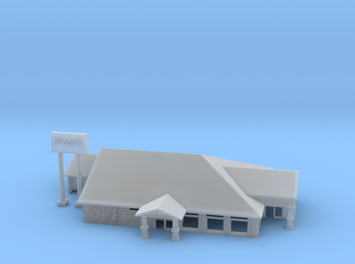 Stonys Bar Grill Restaurant 3d printed Stony's Bar and Grill Z scale