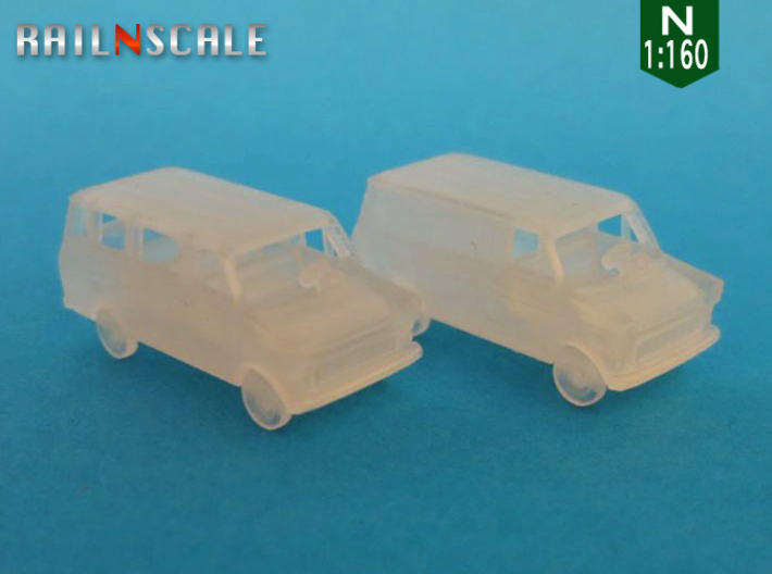 SET 2x Ford Transit (N 1:160) 3d printed