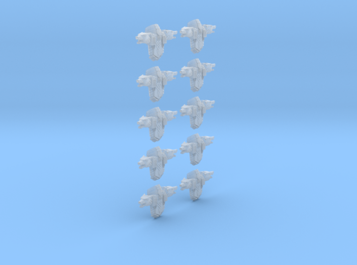 Large Wolf backpack (set of 10) 4.5cm 3d printed