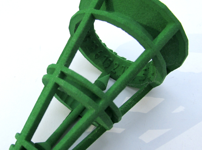 Rolling Bell d20 3d printed In Green Strong & Flexible Polished