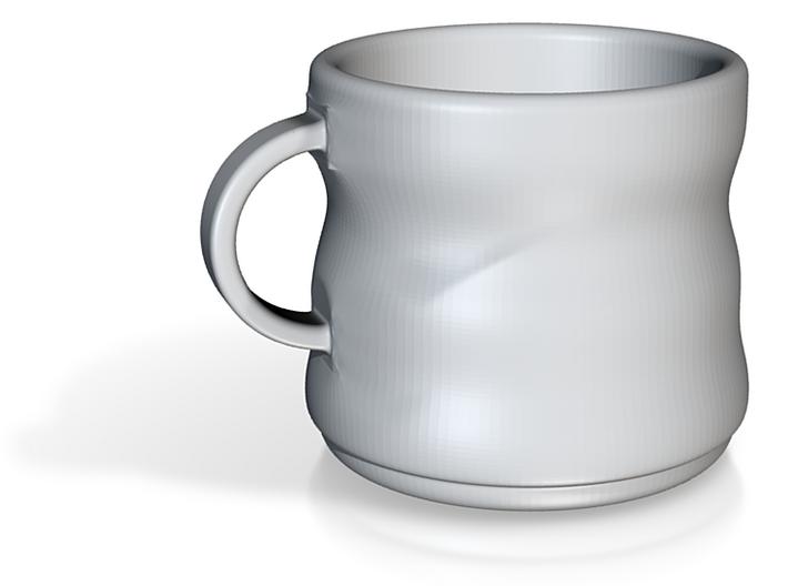 Waved Mug 3d printed