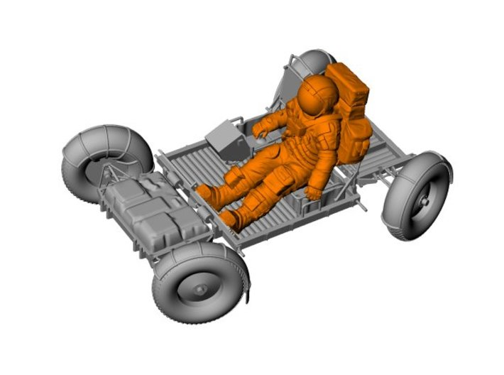 1:24 Apollo Astronaut /LRV(Lunar Roving Vehicle) 3d printed
