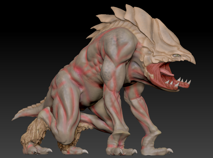 Davi Blight's King of Predators Collectable Figure 3d printed Model Render in ZBrush