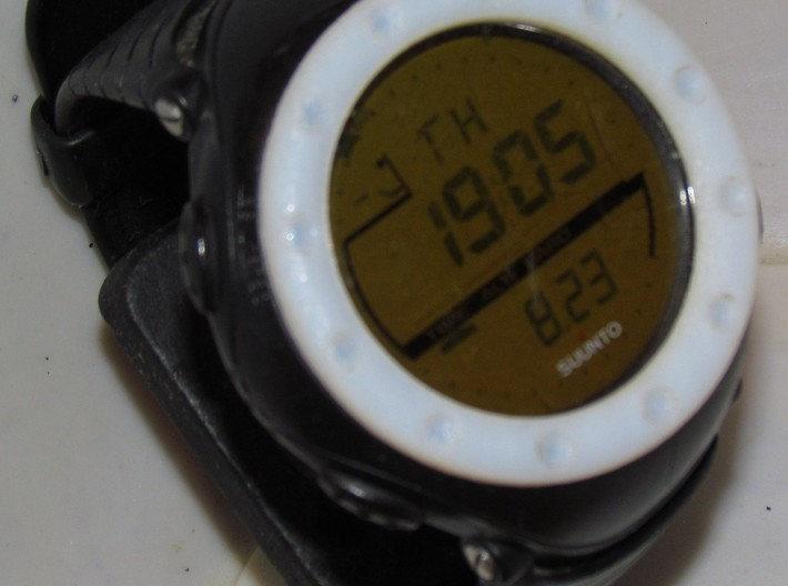 replacement watch bezel v0.0 3d printed The bezel installed on my Suunto Altimax.