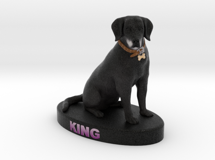 Custom Dog Figurine - King 3d printed