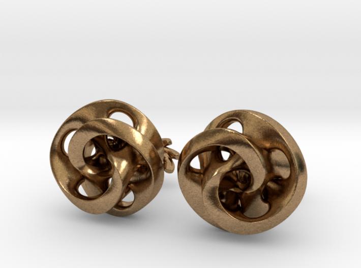 Mobius Cufflinks 3d printed