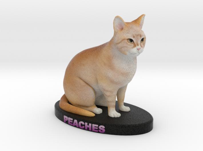 Custom Cat Figurine - Peaches 3d printed