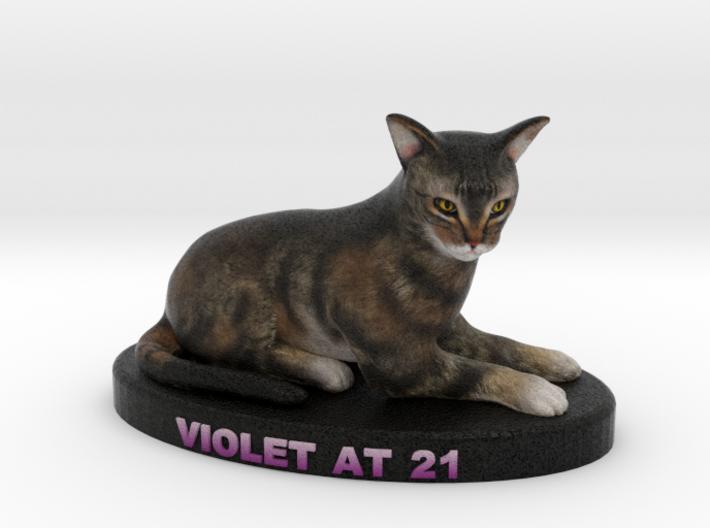 Custom Cat Figurine - Violet 3d printed
